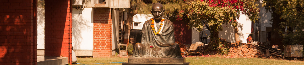 Within your trip to Ahmedabad you can visit Sabarmati Ashram, which was one of the residences of Gandhi